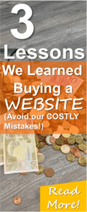 Read these 3 lessons we learned after Buying a Website on Flippa! Don't repeat our COSTLY mistakes! Buying a website can be lucrative if it already has a good positive cashflow but there is alot of scams out there!