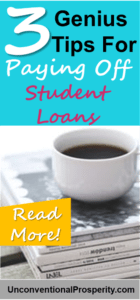 3 Very Clever Tips For Paying Off your Student Loans fast! This article is a must read article if you are serious about paying off your student loan debt this year!