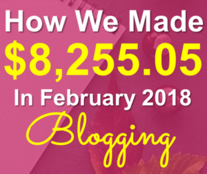 February 2018 online income report from our blogging income. Financial freedom definition!