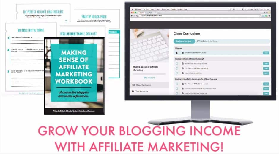 Making sense of affiliate marketing course graphic - blogging resources page