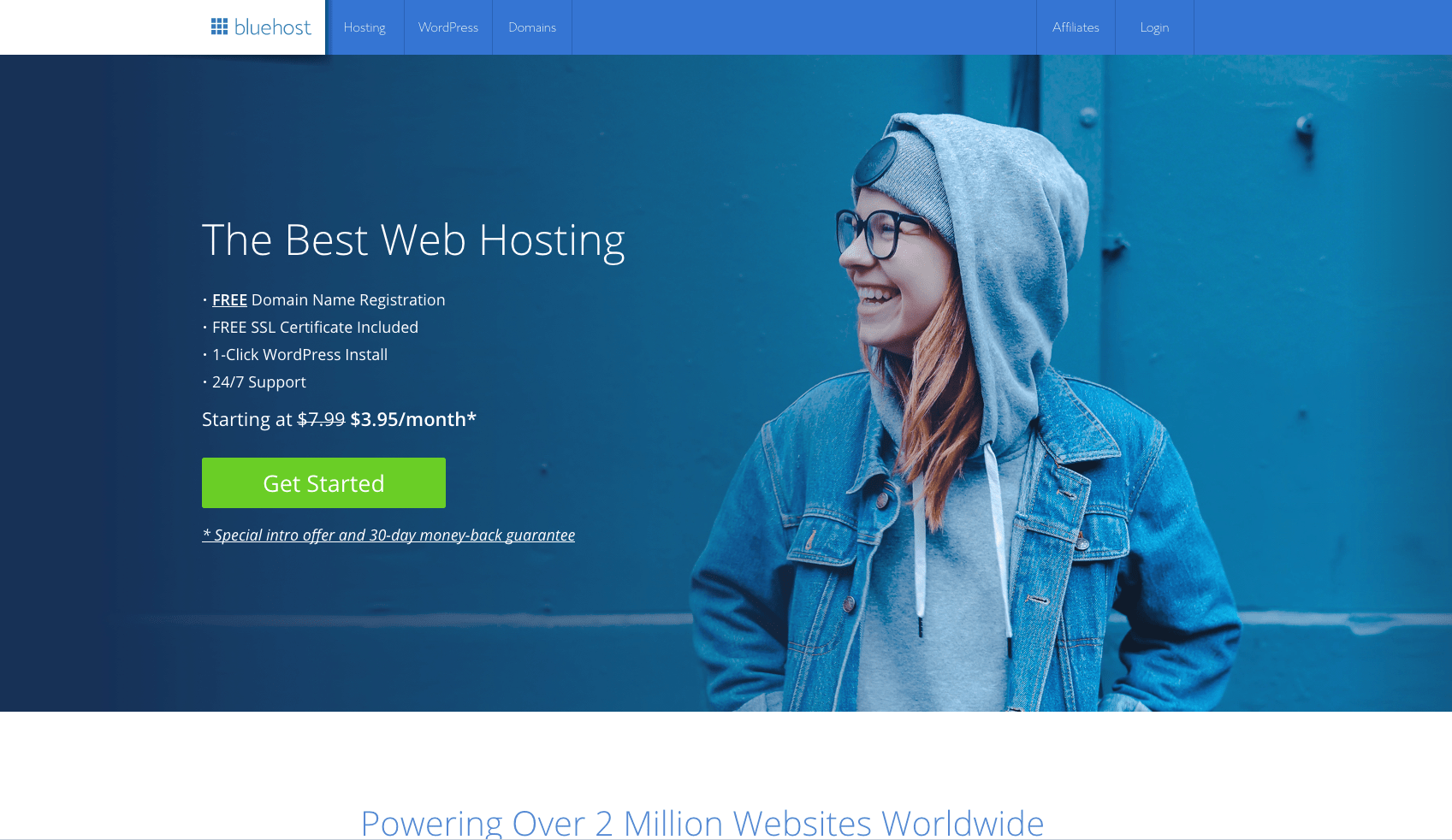 bluehost banner - how to start a blog